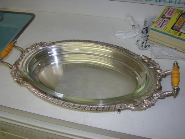 16: Silver Plated Covered Entree Dish.