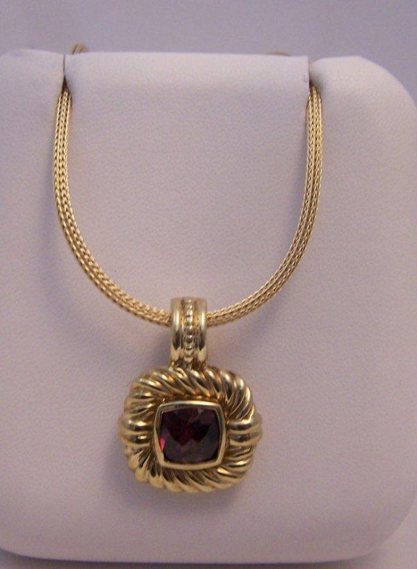 23: David Yurman 14k Garnet Necklace