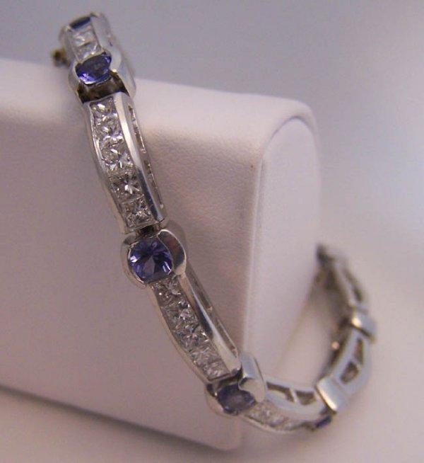 24: Platinum and Tanzanite Tennis Bracelet