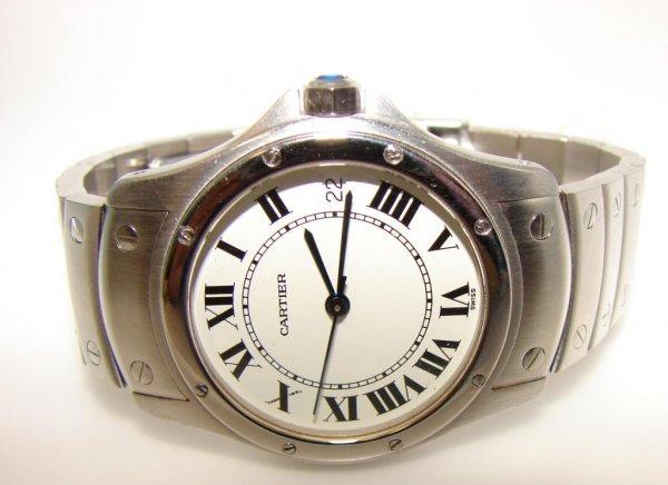 26: Cartier Rond Solo Auto Ladies Wristwatch