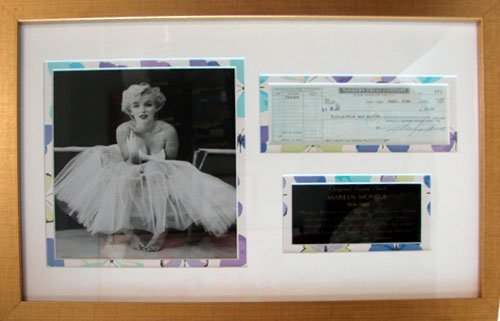 78: Marilyn Monroe Autograph, Signed Bank Check.