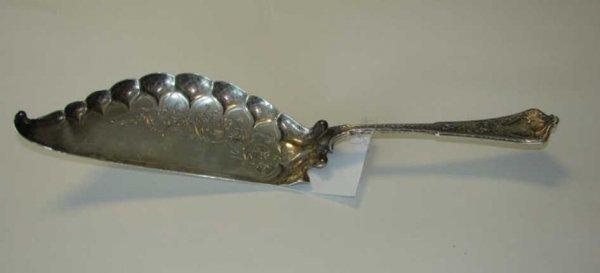 "1: Tiffany & Co. Sterling fish server ""Persian"" 1872."