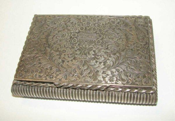 10: Continental Silver Dresser Box.  19th C.