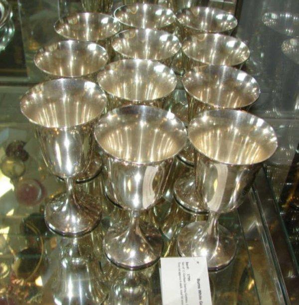 """15: Set of 11 Gorham Sterling Goblets. H - 6.5""""."""
