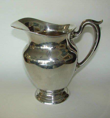 16: Gorham Sterling Silver Water Pitcher. # 182.