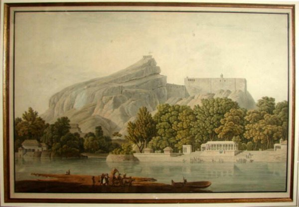 77: William &Thomas Daniell  Watercolor, View of India.