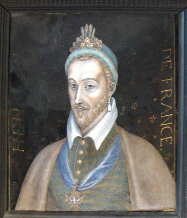 "108: Limoges Enamel ""Henri III, France"" Late 16th C."