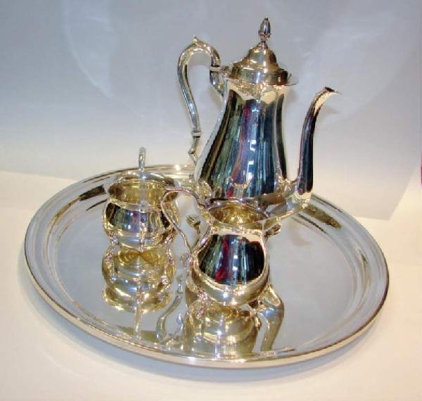 7: Four Piece Sterling Silver Coffee Service, 65 tr.