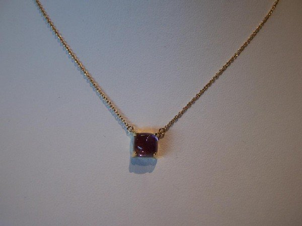 22: Tiffany & Co. 18K Yellow Gold & Amethyst Necklace.