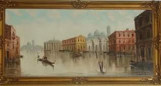 41 OC Grand Canal Venice Unsigned C 1950