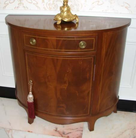 2: Pair (2) Kittinger demi-lune cabinets.