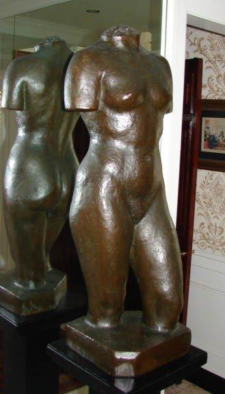 10: Bronze sculpture of a female torso.