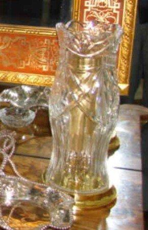 75: Pair (2) Waterford crystal hurricane candleholders