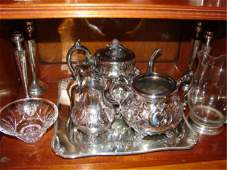 206 Group of ten 10 silver plated articles