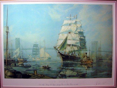 "363: John Stobart lithograph, ""New York,..."""