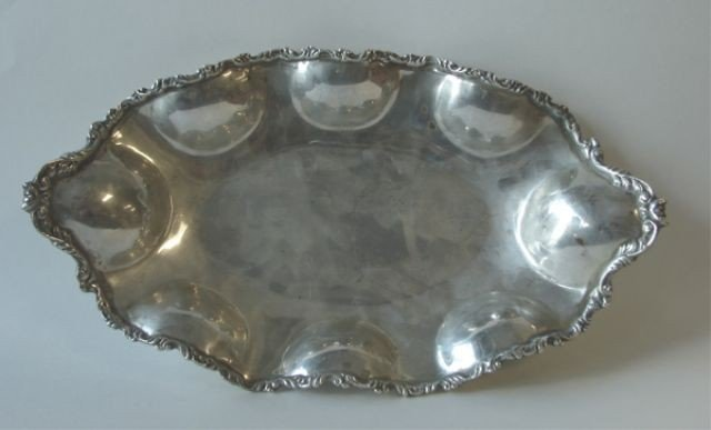 3: Mexican sterling silver bread dish.  18.5 oz.