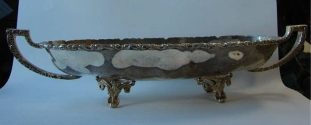 4: Mexican sterling elongated fruit bowl.  50.0  oz.