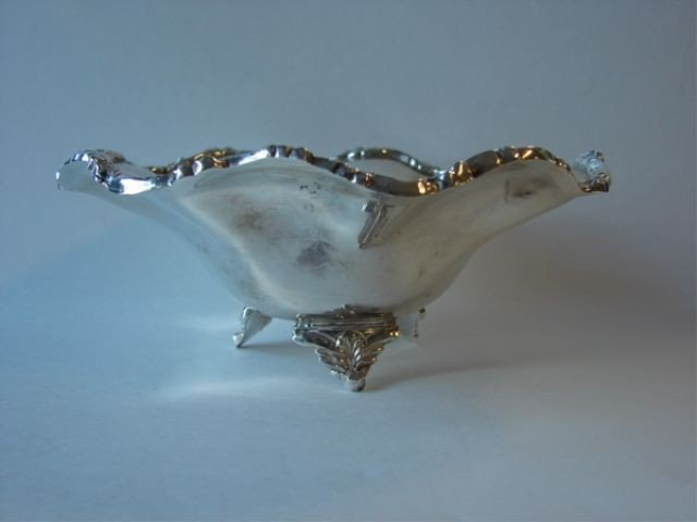 5: Mexican sterling silver footed bowl.  8.5 oz.