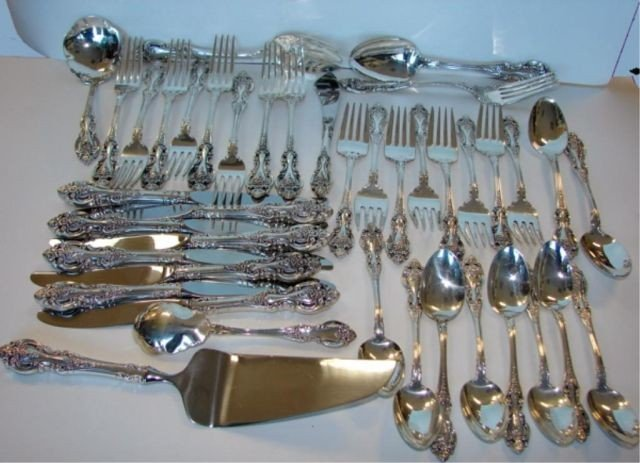 10: 41 pc.  Wallace Sterling Flatware, Grand Victorian.