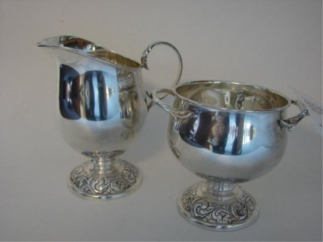 12: Towle sterling creamer and sugar bowl. 7.8 oz.