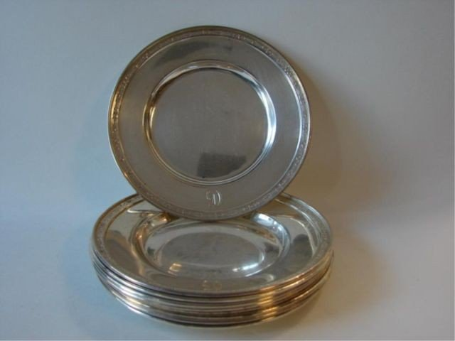 14: Set (8)  sterling bread plates plus one. 24.5 oz.