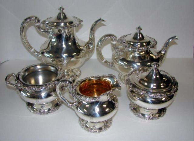 17: 5 piece Gorham Sterling Tea/Coffee Service.