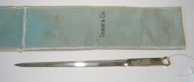 20: Tiffany & Co. sterling silver letter opener.