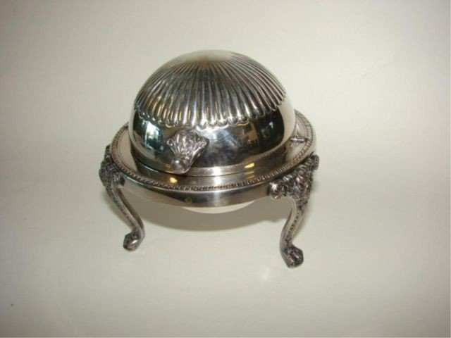 22: English plated butter tureen.