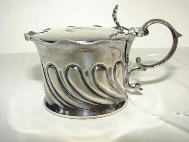 5: Sterling Silver Jam Pot.  2.8 Troy Oz.
