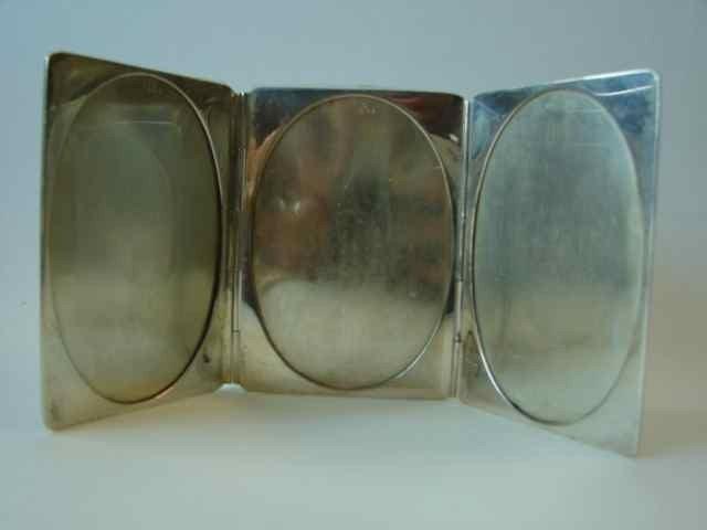 9: Sterling silver frame case. Triptych. 4.7 oz.