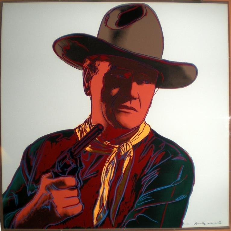 "26: Andy Warhol lithograph, ""John Wayne"", PP 4/15."