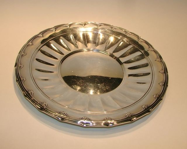 """2: Towle Sterling Silver Cake Plate, """"Old Colonial""""."""