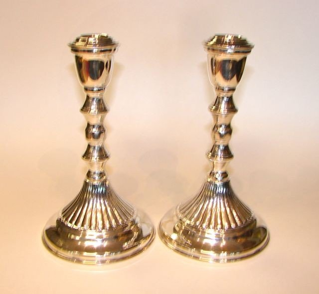11: Pair Sterling Silver Candle Stick Holders.