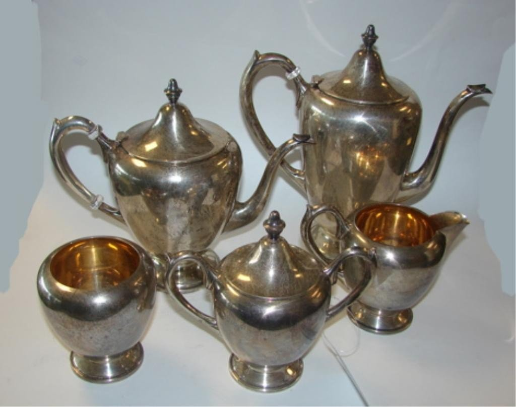 12: Rogers  Sterling Silver 5 Pc. Tea/Coffee Service