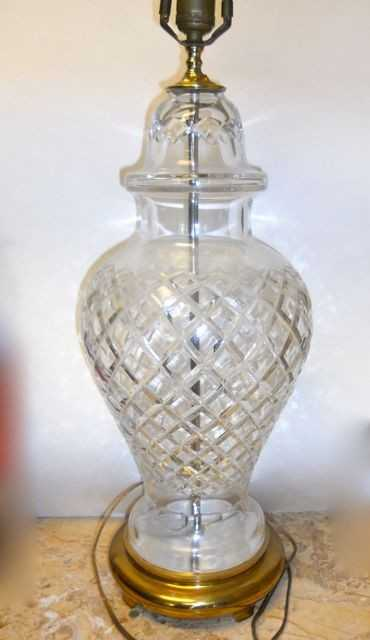 207 Waterford Crystal Ginger Jar Vase Lamp