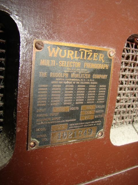 "220: Wurlitzer vintage ""Bubbler"" JukeBox. - 3"