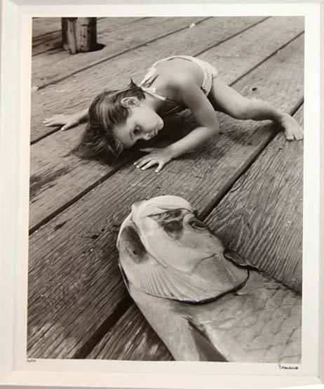 21: ALFRED EISENSTAEDT (1898-1995) GIRL W/FISH