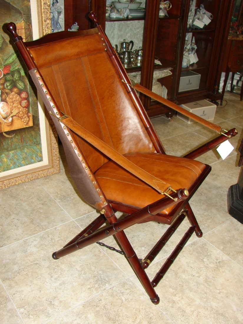 Palecek Bingham Leather Folding Chair