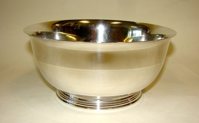 10: Sterling Silver Paul Revere Style Bowl.