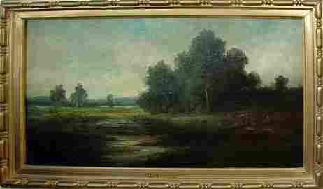 61: Oil Painting, Landscape, Charles F. Daubigny.