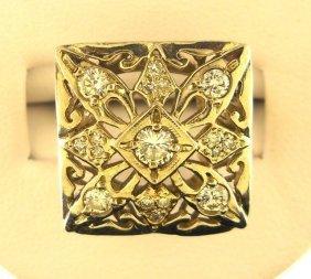 3: 14K White Gold & Diamond Ladies Ring.