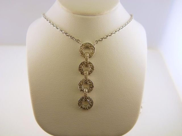 11: 14K White Gold & Diamond Necklace.