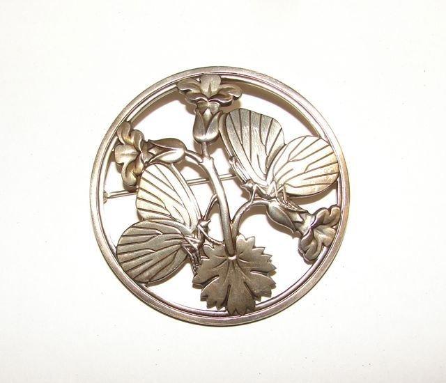 """15: Georg Jensen Sterling Butterfly"""" Pin."""""""