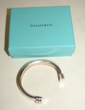"Tiffany & Co. Sterling ""Atlas"" Bracelet."
