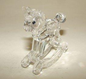 22: Swarovski Crystal Rocking Horse Figurine.