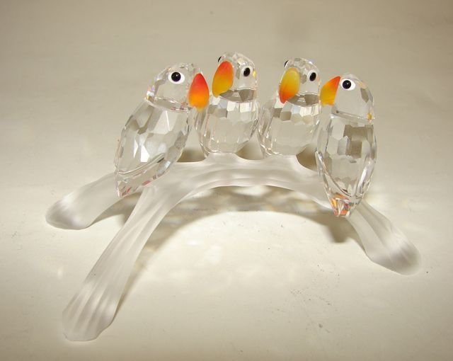23: Swarovski Crystal Birds On Branch Figurine.