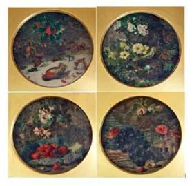 92: Set of Four paintings, Four Season. E. H. Stannard