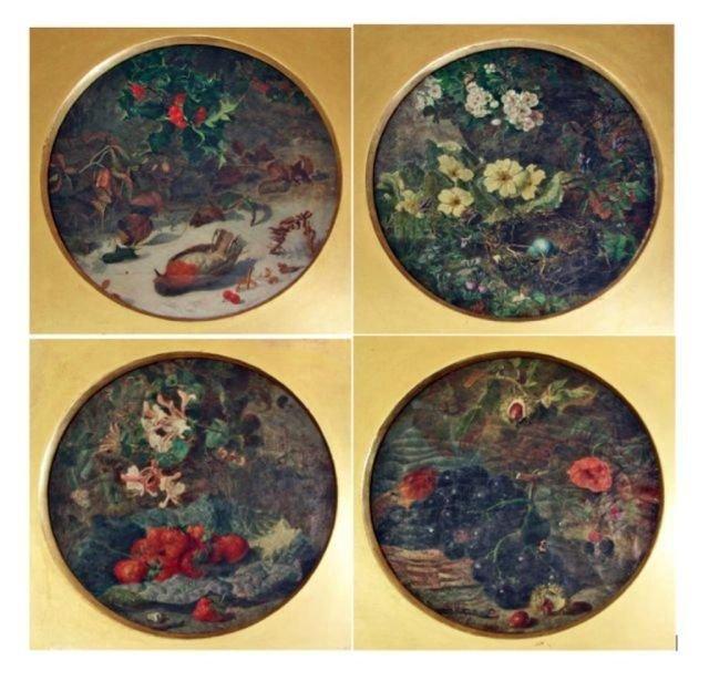92: Set of Four paintings, Four Season. E. H. Stannard