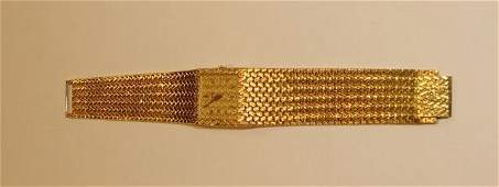 175: Piaget 18K Yellow Gold Wrist Watch.
