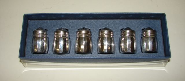 Set  Six (6) Sterling Silver Shakers.